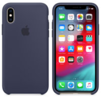 iPhone XS Силиконовый чехол - Midnight Blue (High Copy)