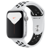 Apple Watch Nike 5 (GPS) 44mm Silver Aluminum Case with Pure Platinum/Black Nike Sport Band (MX3V2)