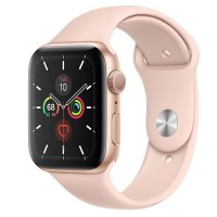 Apple Watch Series 5 (GPS + Cellular) 44mm Gold Aluminum w. Pink Sand b.- Gold Aluminum (MWW02)