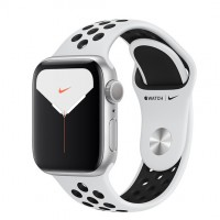 Apple Watch Nike 5 (GPS) 40mm Silver Aluminum Case with Pure Platinum/Black Nike Sport Band (FX3R2) CPO