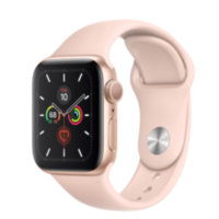 Apple Watch 5 (GPS) 40mm Gold Aluminum Case with Pink Sand Sport Band (MWV72)