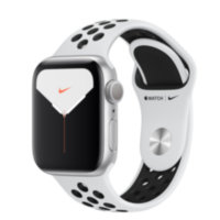 Apple Watch Nike 5 (GPS) 40mm Silver Aluminum Case with Pure Platinum/Black Nike Sport Band (MX3R2)