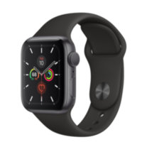 Apple Watch 5 (GPS) 40mm Space Gray Aluminum Case with Black Sport Band (MWV82)