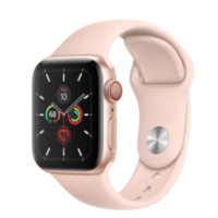 Apple Watch 5 (GPS + Cellular) 40mm Gold Aluminum Case with Pink Sand Sport Band (MWWP2)