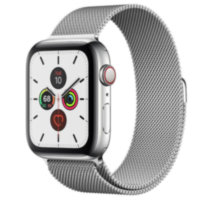 Apple Watch 5 (GPS + Cellular) 44mm Stainless Steel Case with Milanese Loop (MWW32)