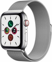 Apple Watch 5 (GPS + Cellular) 40mm Stainless Steel Case with Stainless Steel Milanese Loop (MWWT2)