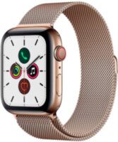 Apple Watch 5 (GPS + Cellular) 40mm Gold Stainless Steel Case with Gold Milanese Loop (MWX72)